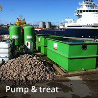 Groundwater remediation - pump and treat